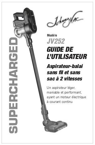 Johnny Vac JV252 English User Guide PDF Version
